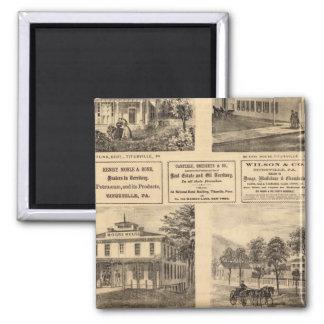 Residences, hotels, Titusville, Franklin Refrigerator Magnet