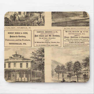 Residences, hotels, Titusville, Franklin Mouse Pad