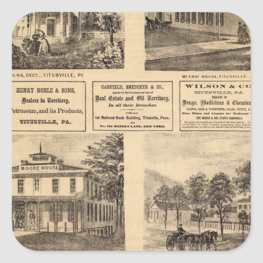 Residences, hotels, Titusville, Franklin Square Sticker