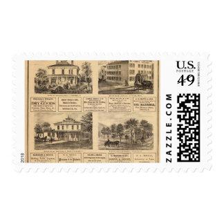 Residences, hotels, Titusville, Franklin Stamps
