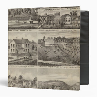 Residences in Amherst and Fillmore, Minnesota 3 Ring Binder