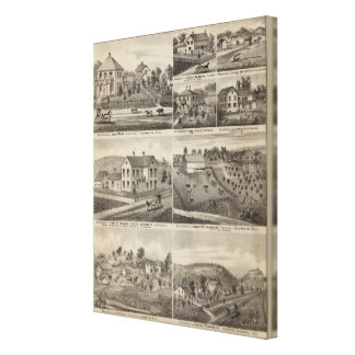 Residences in Amherst and Fillmore, Minnesota Canvas Print