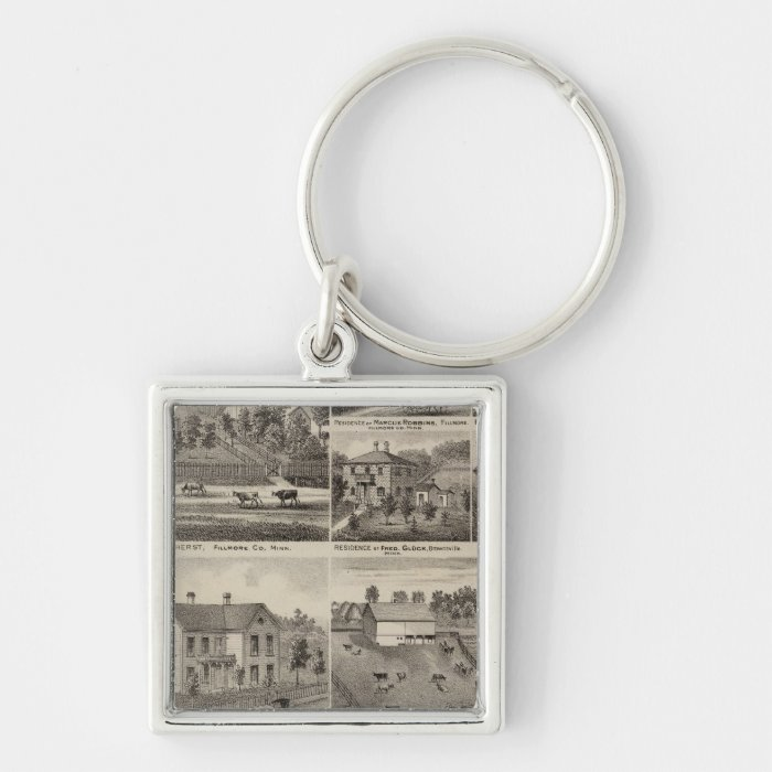 Residences in Amherst and Fillmore, Minnesota Keychain