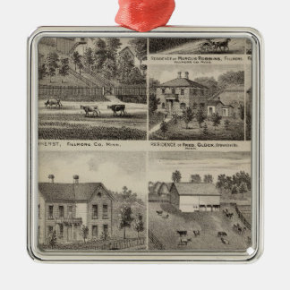 Residences in Amherst and Fillmore, Minnesota Metal Ornament