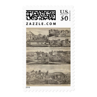 Residences in Amherst and Fillmore, Minnesota Postage