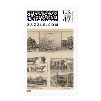 Residences in Kansas Postage