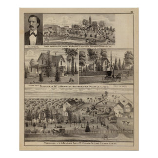 Residences in Lake and Johnson counties Poster