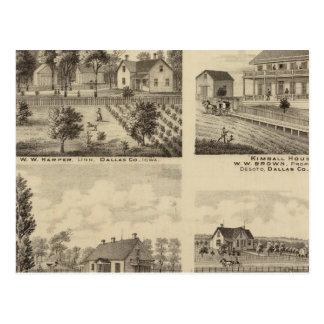 Residences in Linn and Desoto, Dallas Co, Iowa Postcard