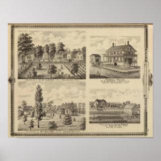 Residences in Linn and Desoto, Dallas Co, Iowa Print