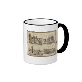 Residences in Linn and Desoto, Dallas Co, Iowa Ringer Mug