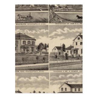 Residences in Minnesota Postcard