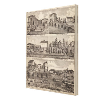 Residences in Rochester and in Dodge, Minnesota Canvas Print