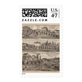 Residences in Rochester and in Dodge, Minnesota Postage