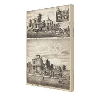 Residences in Rochester, Minnesota Canvas Print
