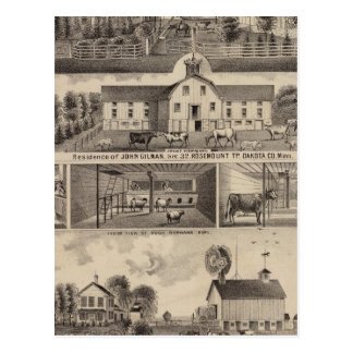 Residences, Minnesota 4 Postcard