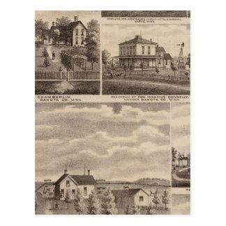 Residences, Minnesota 5 Postcard