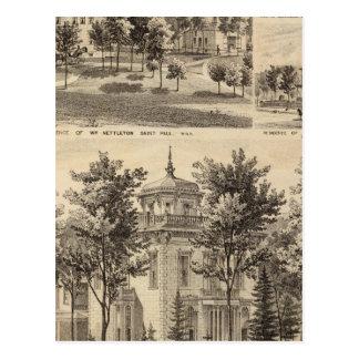 Residences, Minnesota Postcard