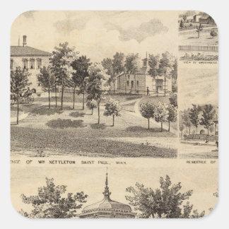 Residences, Minnesota Square Sticker