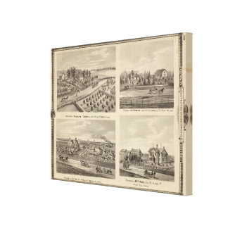 Residences of Caldwell, Fox, Hargis and Hurd Canvas Print