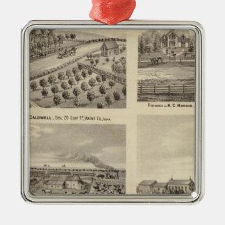 Residences of Caldwell, Fox, Hargis and Hurd Metal Ornament