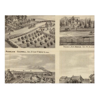 Residences of Caldwell, Fox, Hargis and Hurd Postcard