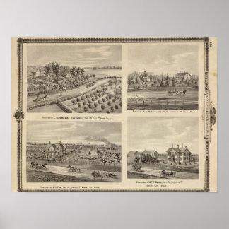 Residences of Caldwell, Fox, Hargis and Hurd Poster
