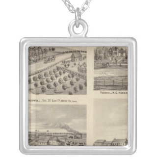 Residences of Caldwell, Fox, Hargis and Hurd Square Pendant Necklace