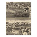 Residences of Charles Alexander Postcard
