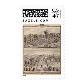 Residences of DB Murrow and Geo Crawford Postage