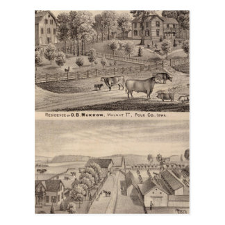 Residences of DB Murrow and Geo Crawford Postcard