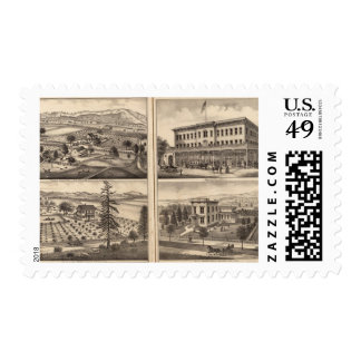 Residences of DD Phillips, C Lee Lambert Postage
