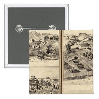 Residences of DG Heald, JM Bowles Pinback Button
