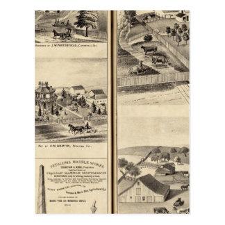 Residences of DG Heald, JM Bowles Postcard