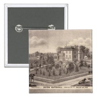 Residences of J Butshall and DM Flinn Pinback Button