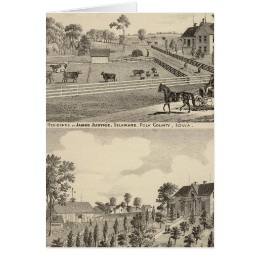 Residences of J Justice Greeting Card