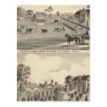 Residences of J Justice Postcard