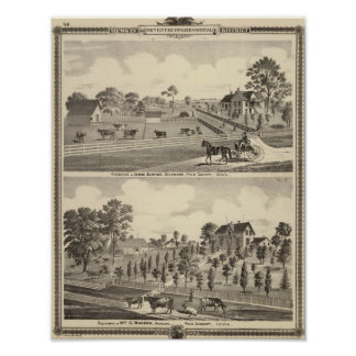 Residences of J Justice Print
