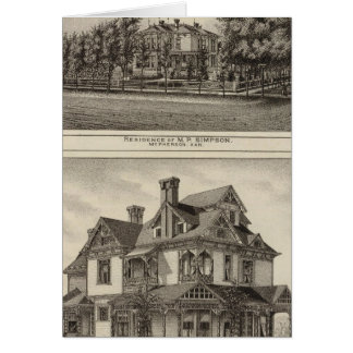 Residences of JR Fisher and MP Simpson, Kansas Card