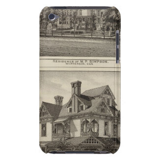 Residences of JR Fisher and MP Simpson, Kansas iPod Touch Case