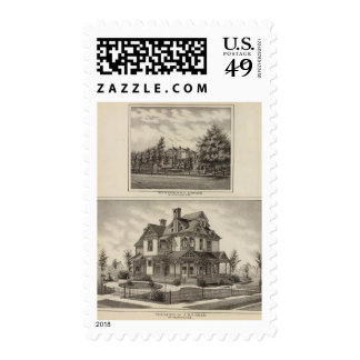 Residences of JR Fisher and MP Simpson, Kansas Stamps