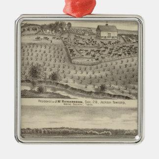 Residences of JW Richardson & JD McGlothlen Metal Ornament