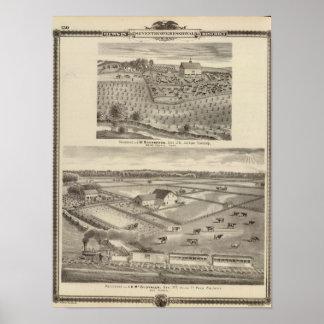 Residences of JW Richardson & JD McGlothlen Posters