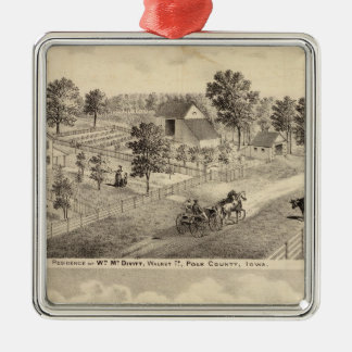 Residences of McDivitt and Robinson Metal Ornament