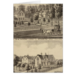 Residences of MM Conger and GW Harrison Card