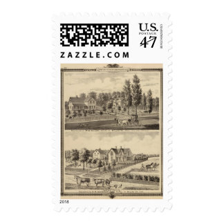 Residences of MM Conger and GW Harrison Postage Stamp