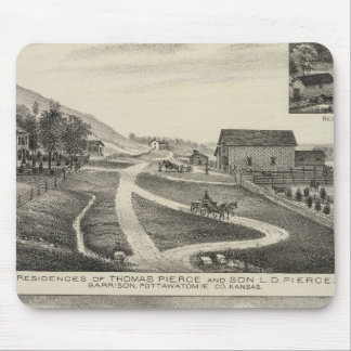 Residences of Pierce and Cooper, Kansas Mouse Pad