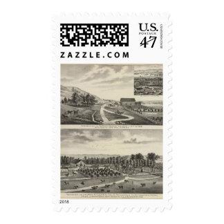 Residences of Pierce and Cooper, Kansas Postage