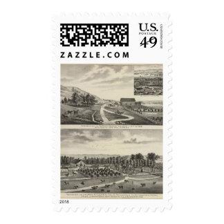 Residences of Pierce and Cooper, Kansas Postage Stamp