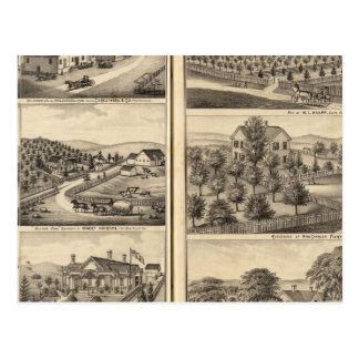 Residences of Robert Andrews, Dr JS Shepherd Post Card