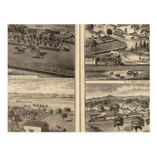 Residences of Robert Crane, EL Davis Post Cards